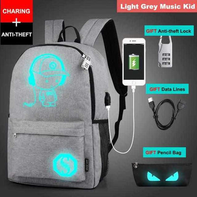Luminous School USB Charger Backpack-Backpacks-Golonzo