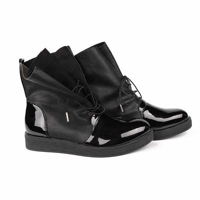 Women Sexy Ankle Boots - Female Fashion Patent PU Leather Shoes-Women Shoes-Golonzo