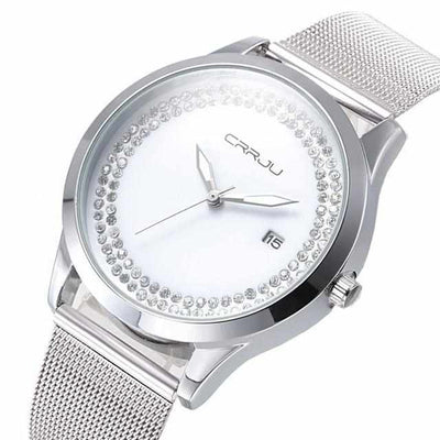 Classic Diamonds Women's Quartz Watch-Watch-Golonzo