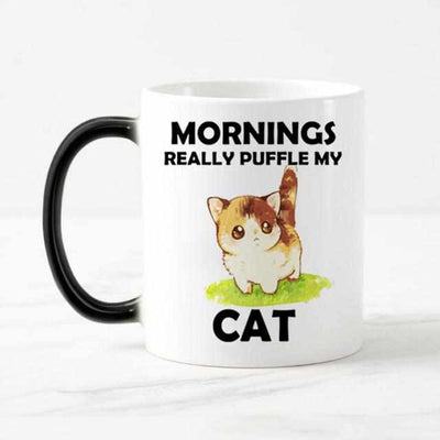 Funny Cute cats Color Changing Coffee Mug-Coffee and Tea Cups-Golonzo