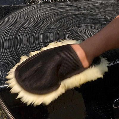 Soft Wool Car Wash Cleaning Glove-Car Wash Brush-Golonzo