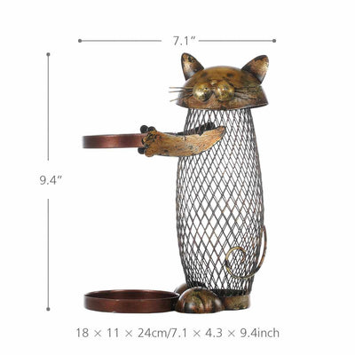 Cat Wine Cork Container and Bottle Holder-Wine Racks-Golonzo