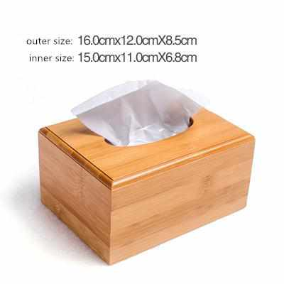 Modern Style Bamboo Square Tissue Box-Facial Tissue Holder-Golonzo