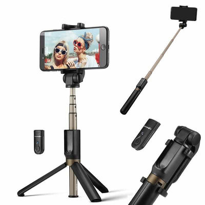 3 in 1 Wireless Bluetooth Tripod Selfie Stick-Mobile Phone and Tablet Tripods and Monopods-Golonzo