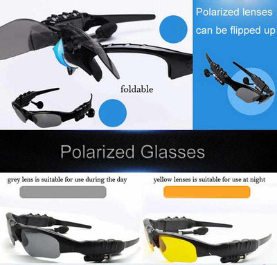 WIRELESS EARPHONE SPORT SUNGLASSES-Sunglasses-Golonzo