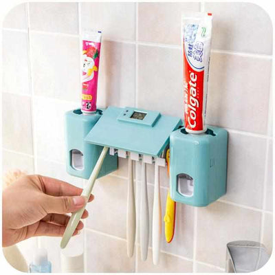 Automatic Toothpaste Dispenser +Toothbrush Holder Set-Toothbrush Holder-Golonzo