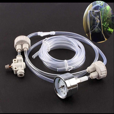 Aquarium DIY CO2 Generator System Kit With Pressure Air Flow Adjustment-Aquarium Air Stones and Diffusers-Golonzo