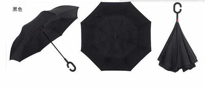 Reverse Folding Double Layer Umbrella-parasol and rain umbrella-Golonzo