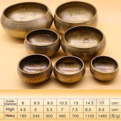 Tibetan Singing Bowl-Decorative Bowl-Golonzo