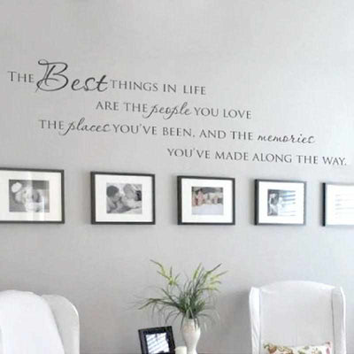 The Best Things In Life Vinyl wall decals-wall sticker-Golonzo