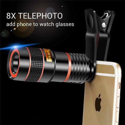 Universal 8X 12X Zoom Cell Phone Telescope Lens-Mobile Phone Camera Accessories-Golonzo