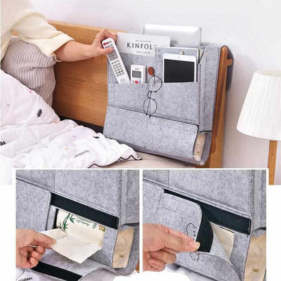 Bedside Felt Storage Bag Organizer-Desktop Storage Box-Golonzo