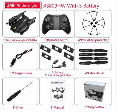 RC Mini Foldable Selfie Drone with Wifi-RC Helicopter and Drone-Golonzo