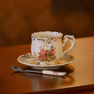 Ivory Porcelain Coffee Cups-Coffee and Tea Cups-Golonzo