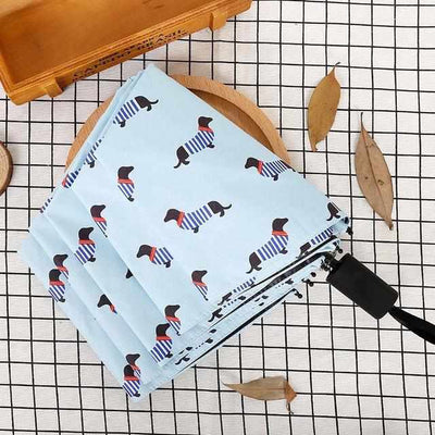 Pocket Sausage Dog Umbrella-parasol and rain umbrella-Golonzo