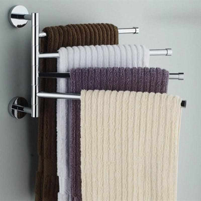 Stainless Steel Rotating Towel Holder-Towel Racks and Holder-Golonzo