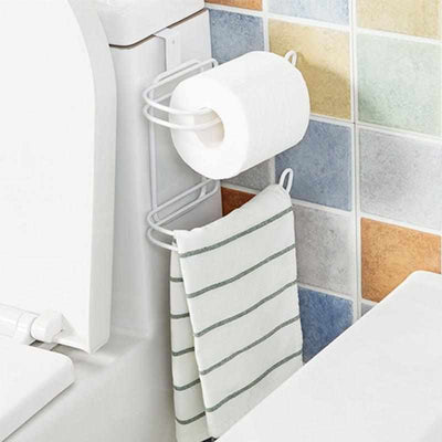 Iron 2 Layers Toilet Roll Paper Hooks-Toilet Paper Holders-Golonzo