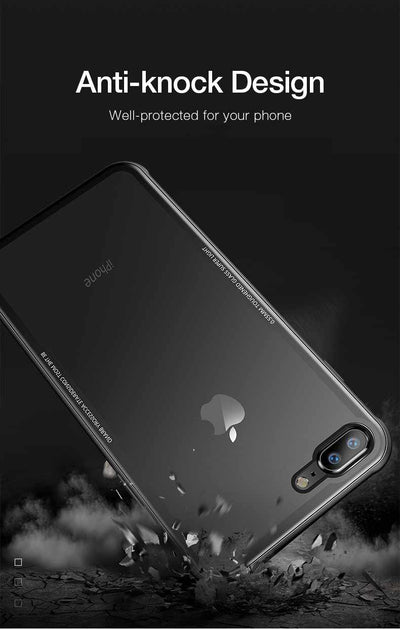 Glass Case for iPhone 7 8 Plus - 9H Hardness Anti Scratch-Mobile Phone Case-Golonzo