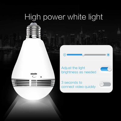 Bulb Light Wireless IP Camera 360 Degree-Digital Camera-Golonzo