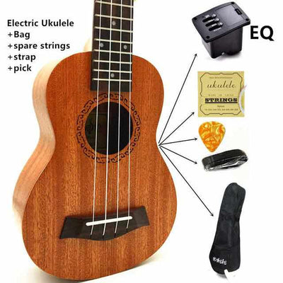 Ukulele Concert / Soprano / Tenor - Mini Hawaii Acoustic Guitar-Guitars-Golonzo