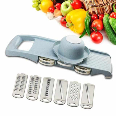 Vegetable Cutter with Stainless Steel Blade-Kitchen Slicers-Golonzo