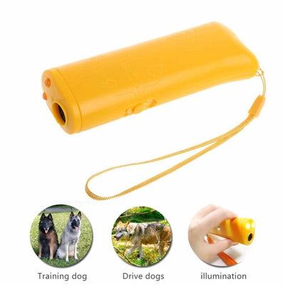 Anti Barking Ultrasonic Dog Training Device-Pet Training Clicker and Treat Dispenser-Golonzo
