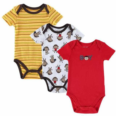 3PCS BABY BODYSUITS 100%Cotton - Infant Short Sleeve Clothing-baby and toddler outfits-Golonzo