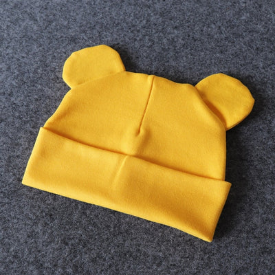 Baby Hat With Ears Cotton Warm Accessories Baby Girl Boy-baby and toddler outfits-Golonzo