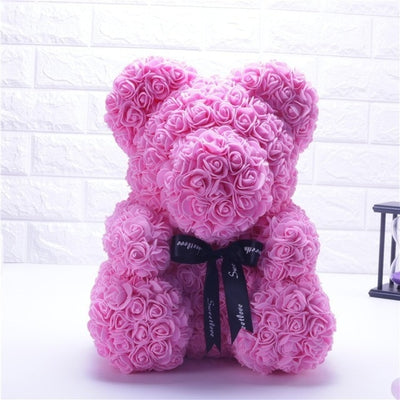 Valentines Day Teddy Bear - Rose Bear-Dolls-Golonzo