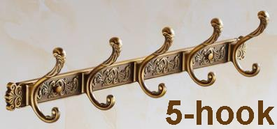 Robe Hooks Luxury Bathroom Wall Carving Antique Robe-Towel Racks and Holder-Golonzo