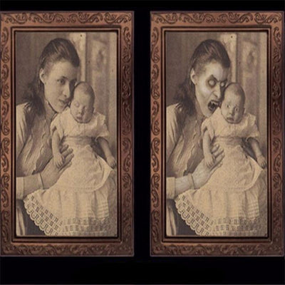 Changeable 3D Ghost Photo Frame Horror Portrait Picture Halloween Party Decoration-paint-Golonzo