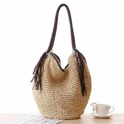 Big Straw Beach Bags-Handbags-Golonzo
