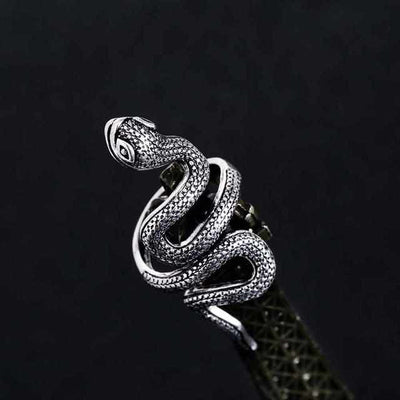 Black Heavy Metals Fashion Snake Rings-ring-Golonzo
