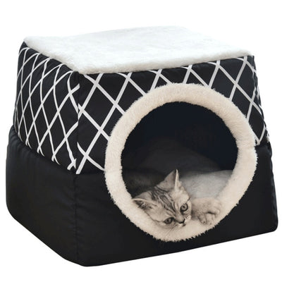 Pet bedSoft Nest Kennel Bed Cave House Sleeping Bag Mat Pad-Cat Bed-Golonzo
