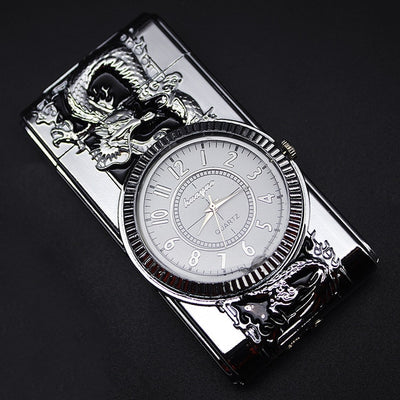 Luxurious Gold Watch Jet Lighter Gas Lighter Cigar Cigarette-lighter-Golonzo