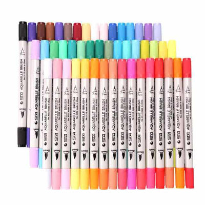 48 Watercolor Brush Pen Colored Markers-Markers & Highlighters-Golonzo
