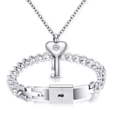 Love Lock Your Heart Bracelet Set-Bracelet-Golonzo