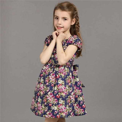 4-14T Flower Dress For Girls-Dresses-Golonzo