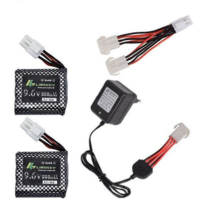 9.6V 800mAh Li-ion battery + Charger for RC Car Battery-Remote Control Cars & Trucks-Golonzo