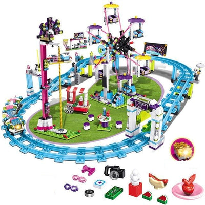 Compatible Legoingly Amusement Park with Roller Coaster-Toys-Golonzo