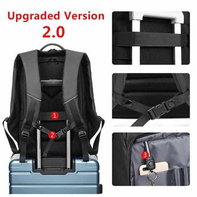 Laptop&Travel Backpack Water Repellent with USB Charging Port-Backpacks-Golonzo