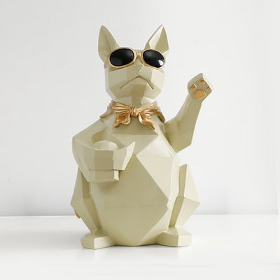 Cat Dog Figurines Resin Moden Crafts Animals Miniature cute ornaments for Home office decoration Storage bowl-statue-Golonzo