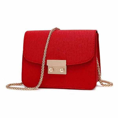 Mini PU leather Messenger Bag-Handbags-Golonzo