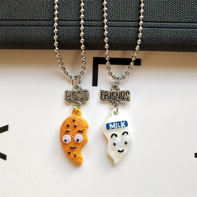 Best Friends Honey Love Couple Pendant Necklace Good Friends Friendship Jewelry Gift-Necklace-Golonzo