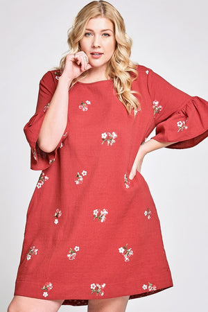 Chic Floral Shift Dress