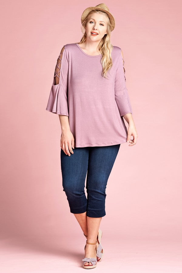 Solid Loose-Fit Knit Top