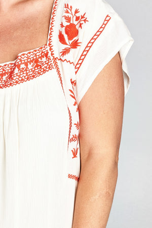 Embroidered Babydoll Trendy Dress