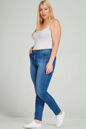 Plus Size Faded Jeans