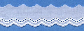 "Swiss Lace Edge 1/2"" #62236 White"