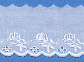 "Swiss Lace Edging 1 7/8"" #62772 White"